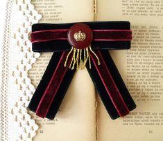Velvet Bow Tie, Black Bow Tie, Velvet Ribbon, White Camellia, Women Bow Tie, Dance Accessories, Burgundy Color, Red Gold, Mall