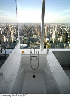 OMG this view is insane! I would die for a bathroom like this!