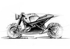 Lazareth Scrambler - BMW R1200 R by Jean-Thomas MAYER, via Behance