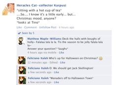 Hetalia Facebook: Christmas Plans by gilxoz-epicness.deviantart.com on @deviantART