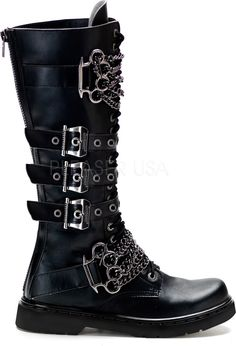 Demonia Shoes - DEFIANT-402 Black - Buy Online Australia Beserk
