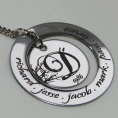 Family Tree Necklace Personalized Jewelry. $28.00, via Etsy.
