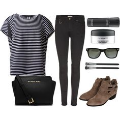 A fashion look from March 2014 featuring loose fitting tops, skinny leg jeans and cut-out shoes. Browse and shop related looks.