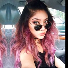 When you color @MaryCake hair purple& it fades pink>>> #Jesstheebesttcolor ~ Pravana #Olaplex
