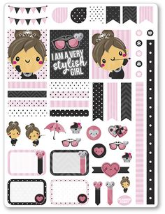 Audrey Decorating Kit / Weekly Spread Planner by PlannerPenny                                                                                                                                                                                 Mais