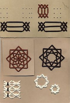 Lacing and Tacketing « Lili's Bookbinding Blog: Wouldn't this look nice on the front of a book?