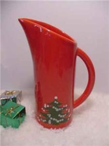 Waechtersbach Christmas Tree Pitcher & christmas dishes - German Waechtersbach Dinnerware Christmas Tree ...