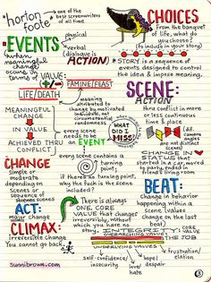 Robert McKee Story Notes by Sunni Brown  http://sunnibrown.com/2011/07/15/story/