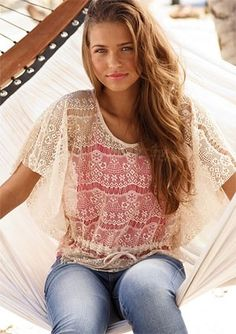 cute lace top -- summer clothes