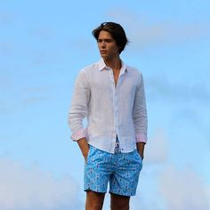 fad3dfcb40206 A white linen shirt adds that little something to any outfit - especially  paired with Pink