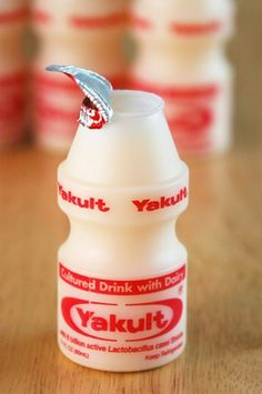 Yakult: I drink this every alternate day! Great for the digestive system. - Valencia, Singapore
