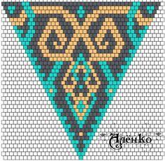Beard smokey beards q riyadh Bead Crochet Patterns, Peyote Stitch Patterns, Seed Bead Patterns, Beading Patterns, Beading Tutorials, Triangle Pattern, Mochila Crochet, Beaded Earrings Patterns, Bead Earrings