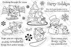 Snowy Days stamp set from There She Goes Clear Stamps