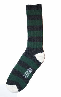 Striped Cold Weather Boot Sock Made in USA One Size Fits All $15.00
