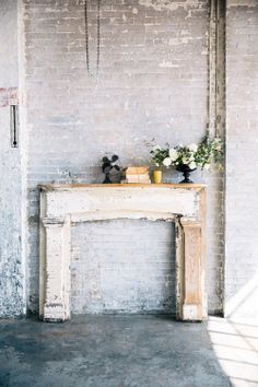 for Crystal - So simple and gorgeous, a mantle you could make in an afternoon.