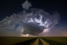 Champagne supercell - stock photo