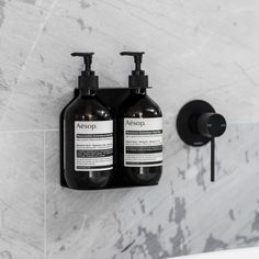 Designstuff offers a wide range of homewares including this minimalist Dual Soap Dispenser Holder in Black. A clever, wall-mountable soap dispenser holder that fits two AESOP, ThankYou or Meraki pump bottles of soap, body wash or hand balm Natural Bristle Brush, Herbal Detox, Black Soap, Bathroom Styling, Bathroom Ideas, Modern Bathroom, Wall Plug, Aesop, Drum