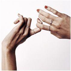 👆🏼👋🏼✌🏼 // #ingerstudio #jewellery #jewelry #rings #ringstacks #gold