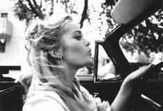 Dennis Hopper once took some breathtaking photos of her driving a convertible. | 19 Dreamy Photos Of Forgotten Style Icon TuesdayWeld
