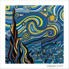 """La noche estrellada"" Vincent van Gogh"