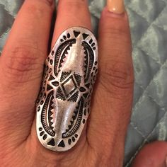 Boho tribal design ring Boho , tribal style ring Jewelry Rings
