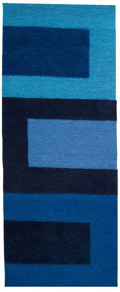 Recently re-discovered Gene Meyer and his amazing use of color Doug and Gene Meyer rug. Blue Square