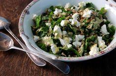 Raw Spinach & Feta Salad