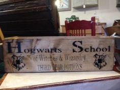 STORAGE BOX - HOGWARTS COME AND FLY, NO BUY ME AT LOVINGLY MADE www.lovinglymadeltd.co.uk