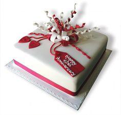 ruby anniversary cakes | Ruby Anniversary Streamers