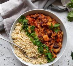 Fried Rice, Chili, Vegan, Ethnic Recipes, Food, Bulgur, Chile, Essen, Meals