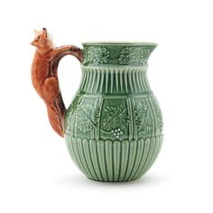 Arts and Crafts fox pitcher
