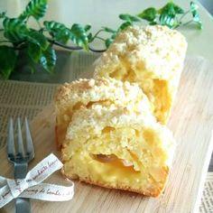 りんごとカスタードのクランブルパウンドケーキ♡
