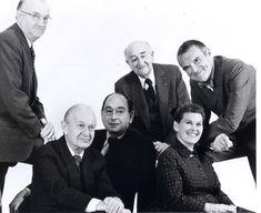 Robert Probst, Alexander Girard, George Nelson, D. J. DePree, Ray Eames, Charles Eames.  @hermanmiller team in 1973
