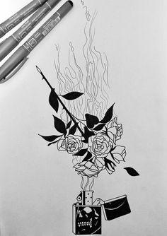 #drawing #roses #fire #burningroses #draw