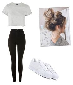 """""""Untitled #12"""" by haileymagana on Polyvore featuring Topshop and adidas Originals"""