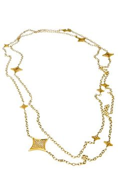 14k Gold Plated Stardust Necklace - $250.