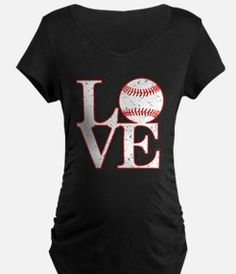 Love Baseball Classic Maternity T-Shirt for