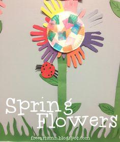 Preschool Art Project - Spring Flowers