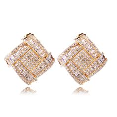 Find More   Information about Party earring New arrival Earrings 18k gold plated top quality Cubic zirconia Crystal Stud Earrings Free shipping,High Quality  ,China   Suppliers, Cheap   from Fashion jewelry and watches on Aliexpress.com