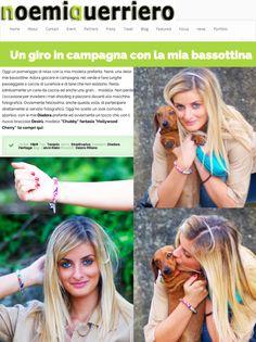 "Nanà, the dachshund of @NoemiGuerriero new model of Desirù! Noemi wears Desirù series ""Chubby"" ""Hollywood cherry""! #neomiguerriero #desirù #desirumilano #desiruchubby #bracelet (http://www.noemiguerriero.com/un-giro-in-campagna-con-la-bassottina/)"