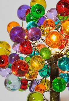 Table lamp with multicolored bubbles. by yehudalight on Etsy