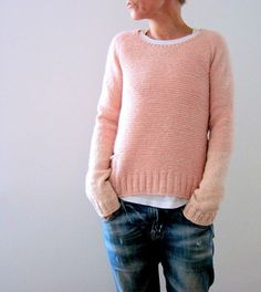 Knitting Patterns Ravelry Knitting Pattern Pink memories by Isabell Kraemer / Isabell Kraemer Pullover Sweater Raglan Simple … Diy Pullover, Pullover Sweaters, Cardigans, Ravelry, Garter Stitch, Pulls, Long Sleeve Tops, Knitwear, Knitting Patterns