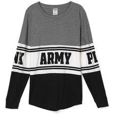 PINK ARMY Bling Varsity Crew