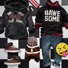 Boys' fashion | Kids' clothes | Hoodie | Sneakers | Football hat | Sweater | Woven top | Jeans | Back-to-school | The Children's Place