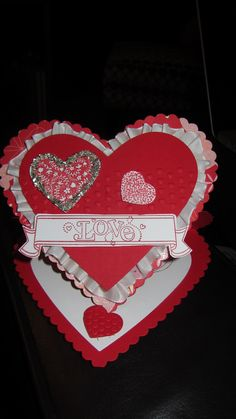 Valentine's Day heart card made with Stampin' Up! products only