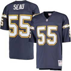 Junior Seau San Diego Chargers Mitchell   Ness Replica Retired Player  Jersey - Navy 8a8aaa0dc