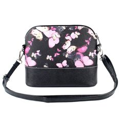 Fashion Butterfly Floral Print Women Handbag Brand Design Shell Bag PU Leahter Shoulder Crossbody Bags Women Messenger Bag #clothing,#shoes,#jewelry,#women,#men,#hats,#watches,#belts,#fashion,#style