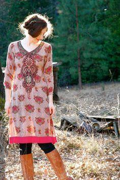 Indian Tunic Dress... Ethnic Dress... Boho Indian Dress... TAPESTRIES (s). $28.00, via Etsy.