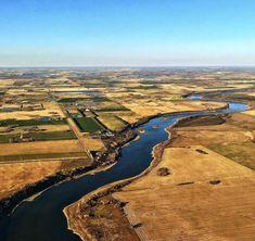 South Saskatchewan River and fields by Rod (@rodneyalbert) on Instagram