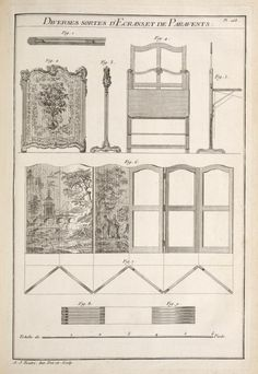 Index Drawing Furniture, Folding Furniture, Furniture Plans, Furniture Making, Antique Furniture, Furniture Design, Vintage Architecture, Architecture Design, New York Public Library